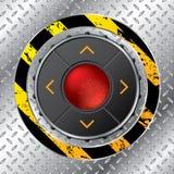 Fondo industrial con los botones ilustración del vector