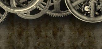 Fondo industrial de la bandera de la máquina de Steampunk imagen de archivo