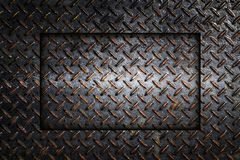 Fondo industrial del extracto de la placa del diamante del metal Foto de archivo