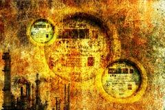 Fondo industrial del grunge imagenes de archivo
