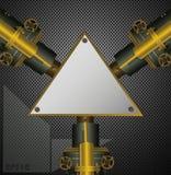 Fondo industrial del vapor con los campos del texto del triángulo stock de ilustración
