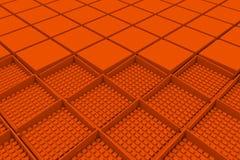 Fondo industrial futurista hecho de formas cuadradas anaranjadas Imágenes de archivo libres de regalías