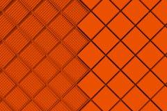 Fondo industrial futurista hecho de formas cuadradas anaranjadas Fotografía de archivo
