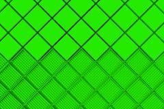 Fondo industrial futurista hecho de formas cuadradas verdes Imágenes de archivo libres de regalías