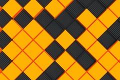 Fondo industrial futurista hecho de squa negro y anaranjado Foto de archivo libre de regalías