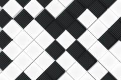 Fondo industrial futurista hecho de squar blanco y negro Fotografía de archivo