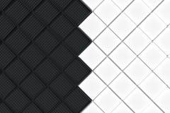Fondo industrial futurista hecho de squar blanco y negro Fotos de archivo libres de regalías