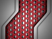 Fondo industrial rojo de plata futurista libre illustration