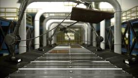 Fondo industrial tecnológico abstracto animado del transportador ilustración del vector
