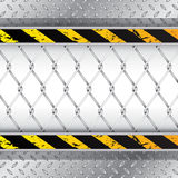 Fondo industriale con il recinto di filo metallico royalty illustrazione gratis