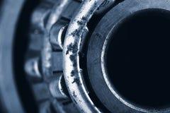 Fondo industriale del cuscinetto macro Fotografie Stock