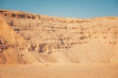 Fondo industriale della cava della sabbia Fotografia Stock Libera da Diritti