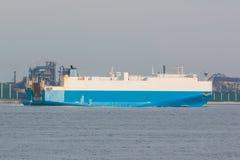 Fondo industriale di scena Paesaggio di industria a porto gene Fotografie Stock Libere da Diritti