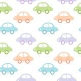 Fondo infantil con los coches para el bebé Fotografía de archivo