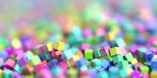 Fondo infinito de los cubos Fotografía de archivo libre de regalías