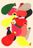 Fondo inflable hermoso del ejemplo de colores del contraste de los globos Foto de archivo libre de regalías