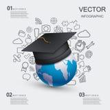 Fondo infographic de la educación moderna del vector Imágenes de archivo libres de regalías