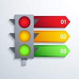 Fondo infographic di traffico moderno di vettore Immagine Stock Libera da Diritti
