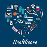 Fondo infographic médico del cartel Foto de archivo libre de regalías