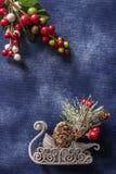 Fondo inmóvil de las decoraciones de la vida de la Navidad fotografía de archivo