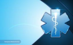 Fondo innovador de la disposición del marco de la emergencia de los servicios médicos de la atención sanitaria del diseño abstrac Fotografía de archivo libre de regalías