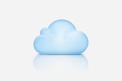 Fondo integrado por la nube azul sobre gris stock de ilustración