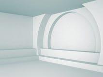 Fondo interior abstracto del azul de la arquitectura Fotografía de archivo