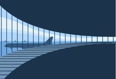 Fondo interior de la terminal de aeropuerto Fotografía de archivo libre de regalías