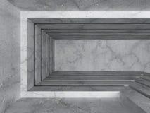 Fondo interior vacío concreto del architectre del sitio oscuro Imagenes de archivo