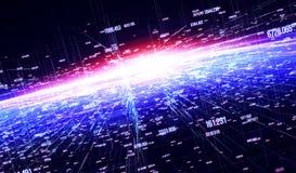 Fondo internacional global de la conectividad ilustración del vector