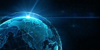 Fondo internacional global de la conectividad ilustración 3D ilustración del vector
