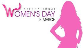 Fondo internazionale di giorno del ` s delle donne l'8 marzo illustrazione vettoriale
