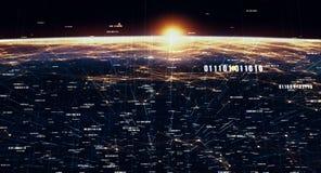 Fondo internazionale globale di connettività illustrazione vettoriale