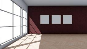Fondo interno con le finestre illustrazione vettoriale