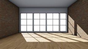 Fondo interno con le finestre royalty illustrazione gratis