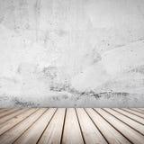Fondo interno concreto bianco vuoto Fotografia Stock Libera da Diritti