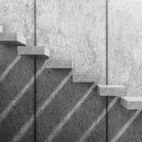 fondo interno 3d con le scale concrete bianche illustrazione di stock