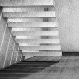 fondo interno 3d con le scale concrete vuote illustrazione vettoriale