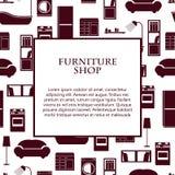 Fondo interno domestico di vettore della mobilia Fotografia Stock Libera da Diritti