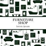 Fondo interno domestico di vettore della mobilia Immagini Stock Libere da Diritti
