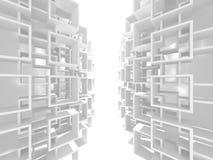 Fondo interno moderno della costruzione bianca di architettura Immagini Stock Libere da Diritti