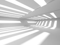 Fondo interno moderno della costruzione bianca di architettura Fotografia Stock