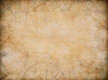 Fondo invecchiato della mappa del tesoro con la bussola illustrazione di stock