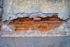 Fondo invecchiato della parete della via Immagine Stock