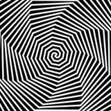 Fondo ipnotico in bianco e nero. Fotografie Stock Libere da Diritti