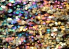 Fondo iridiscente de Bokeh Imagenes de archivo