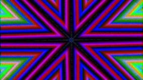 Fondo iridiscente psicodélico de la partícula del Cyberpunk dinámico multicolor stock de ilustración