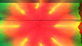 Fondo iridiscente psicodélico futurista ornamental multicolor Efecto del error de la interferencia metrajes