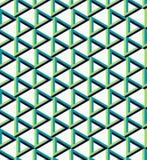 Fondo irreal isométrico del modelo del triángulo Fotos de archivo