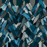 Fondo irregular del remiendo del triángulo azul Fotografía de archivo libre de regalías